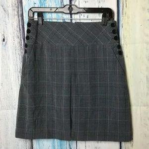 Apostrophe Stretch Front Pleat Skirt (D)